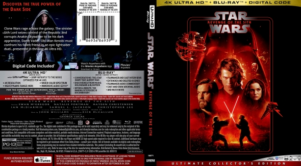 Covercity Dvd Covers Labels Star Wars Episode Iii Revenge Of The Sith 4k