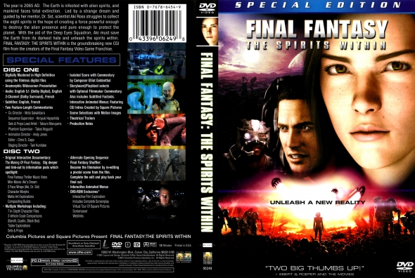 Covercity Dvd Covers Labels Final Fantasy The Spirits Within