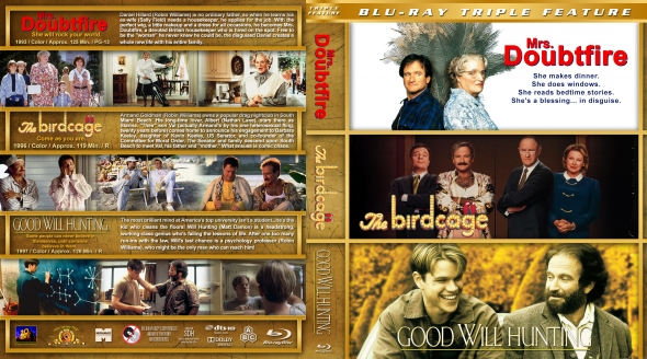 Mrs. Doubtfire / The Birdcage / Good Will Hunting Triple Feature